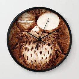 Half-Caf Owl Wall Clock