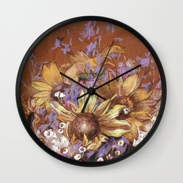 Sunflower coctail Wall Clock