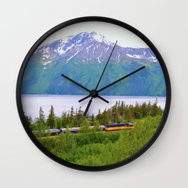 Alaska Passenger Train - Bird Point Wall Clock