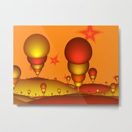 Fantasy Landscape, Fractal Art Metal Print
