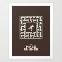 maze runner Art Prints featuring Maze Runner by Aaron Johnson Design