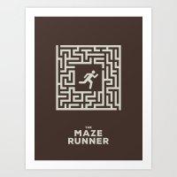 the maze runner Art Prints featuring Maze Runner by Aaron Johnson Design