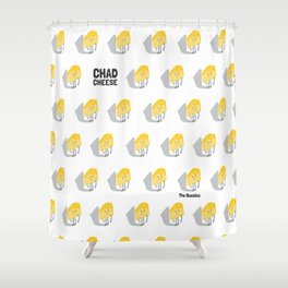 Chad Cheese Shower Curtain
