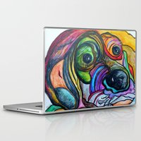the hound Laptop & iPad Skins featuring Hound Dog by EloiseArt