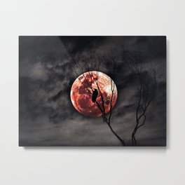 Red Moon Rising - Australia Metal Print
