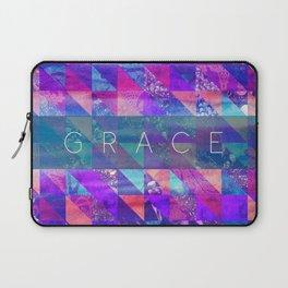 "2 Corinthians 12:9 ""Grace"" (purple triangles) Laptop Sleeve"