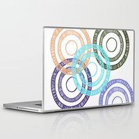 bianca green Laptop & iPad Skins featuring Bianca Circle by Ellie And Ada