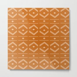 Lines in Butterscotch Metal Print