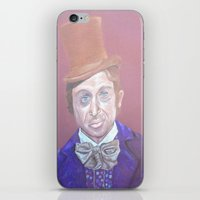 willy wonka iPhone & iPod Skins featuring Willy Wonka by gabrielle gordon