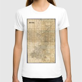 Complete Map of Shaanxi Province, China (1864) T-shirt