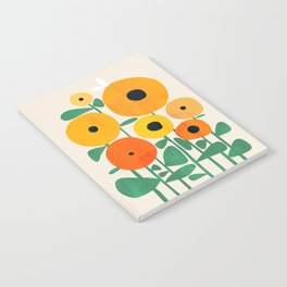 Sunflower and Bee Notebook