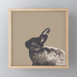 Little Rabbit on Sepia #1 #decor #art #society6 Framed Mini Art Print