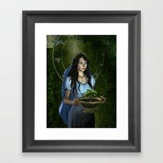 Virgo zodiac fantasy Framed Art Print