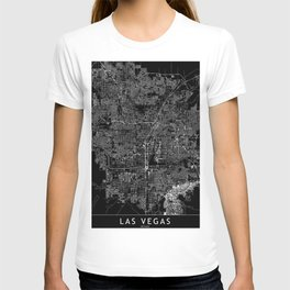 Las Vegas Black Map T-shirt