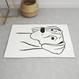 Great Dane (Black and White) Rug