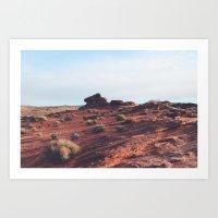 Arizona Desert Landscape I Art Print
