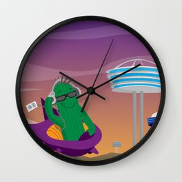 Punk Cactus from the Future Wall Clock