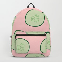 Bright Refreshing Summer Pink Cucumber Pattern Backpack