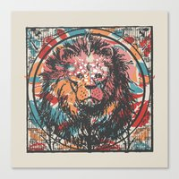 leo Canvas Prints featuring Leo by Heinz Aimer