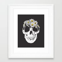 pushing daisies Framed Art Prints featuring pushing daisies by campkatie