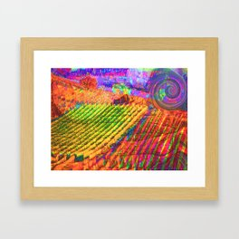 Langhe bis -Art Digital Original- Framed Art Print