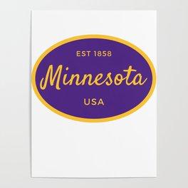 Minnesota Established USA Print Poster