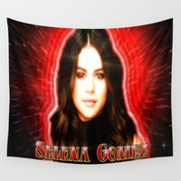 selena Wall Tapestries featuring Dedication #1 - Selena Gomez #1 by InnerSymbiance