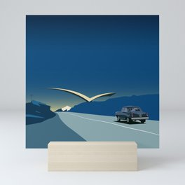 "Soviet Modernism: ""Seagull"" road mark at the northern entry of Yerevan Mini Art Print"