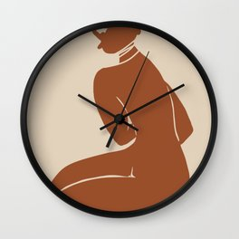 Terracotta african nude Wall Clock