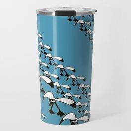 Sea-cool diagonal pattern 3 Travel Mug