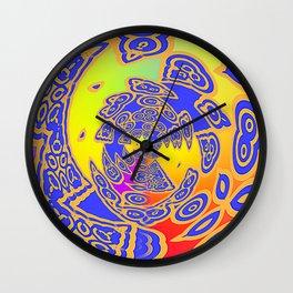 BLUE MIX KALEIDOSCOPE Wall Clock