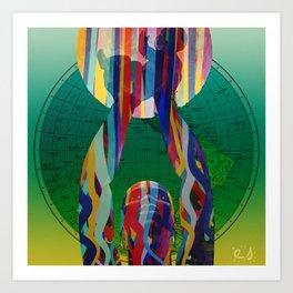 Hope for the World Vector Graphic Design Art by Emmanuel Signorino  Art Print