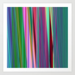 fall stripes Art Print
