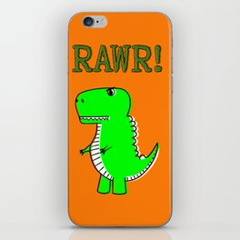 Cute And Angry Cartoon T-Rex iPhone Skin