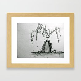 Wilted Plant Framed Art Print