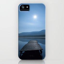 Moon over Lough Aubha iPhone Case