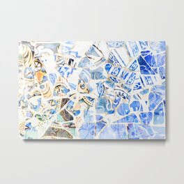 Mosaic of Barcelona XII Metal Print