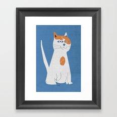 Sam the cat Framed Art Print