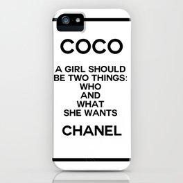 coco quote no. 5 iPhone Case