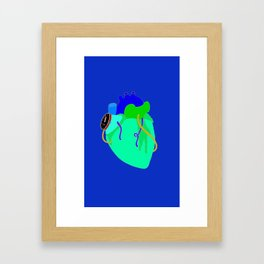 Countdown Heart Framed Art Print