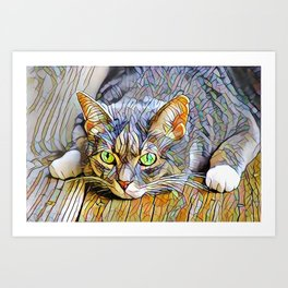 The TABBY II from our FUNK YOUR FELINE line Art Print