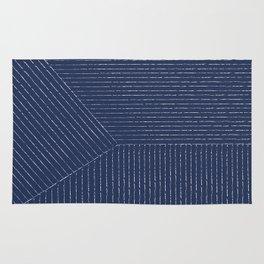 Lines / Navy Rug