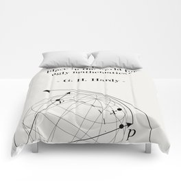 Math Poster G.H. Hardy quote Comforters
