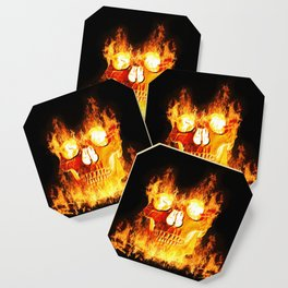 Flaming Skull Coaster