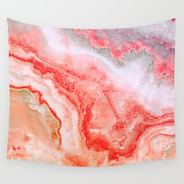Luxury Rose Gold Agate Marble Geode Gem Wall Tapestry