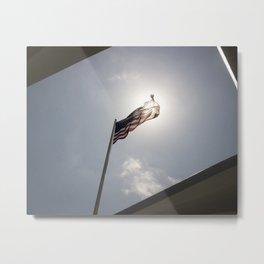 American Glow Metal Print
