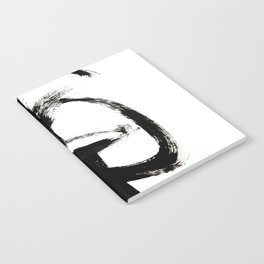 Brushstroke 4 - a simple black and white ink design Notebook