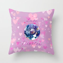 Love Nipples with Molly Caitlin Throw Pillow