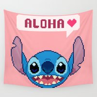 aloha Wall Tapestries featuring Aloha! by FrankenPup