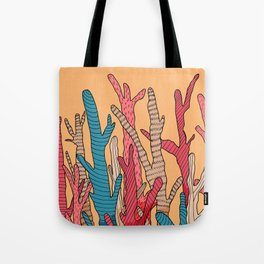 The tall coral Tote Bag